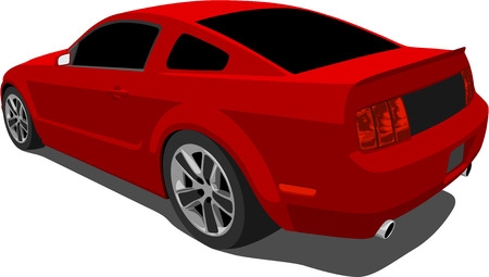 American Sports Car Stock Vector - 5040723