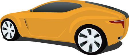 Aerodynamic Sports Car