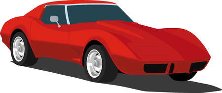 horsepower: Classic Red Sports Car