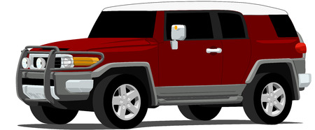 Off Road Japanese SUV Ilustração