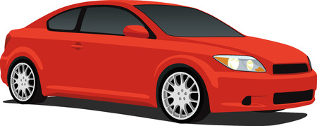 Red Japanese Coupe Vector