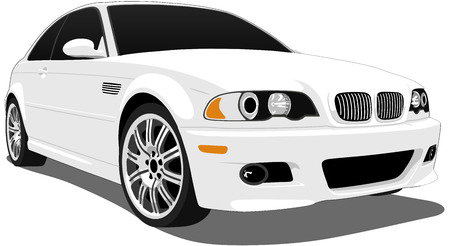 in german: German Sports Coupe Illustration