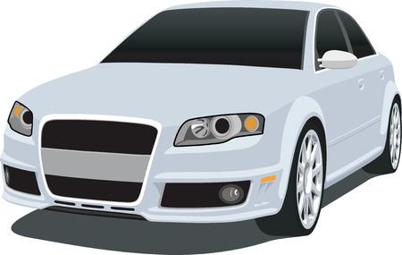 Silver German Sedan 2007 Иллюстрация