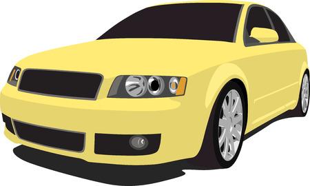 Yellow German Sedan