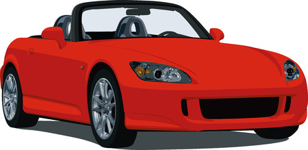 Red Japanese Roadster Vector
