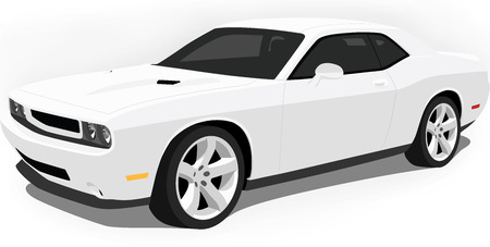 Modern American Muscle Car Stock Vector - 5585317