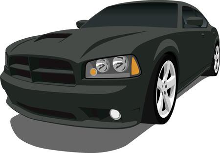 Black American Sports Sedan