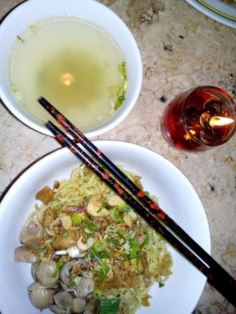 mie noodles: Mushroom noodle