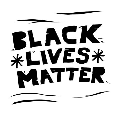 a black lives matter grunge doodle vector illustration
