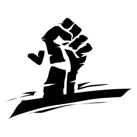 a black lives matter grunge doodle vector illustration