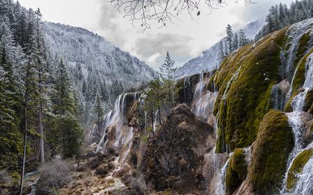 Jiuzhaigou Nuorilang Waterfall