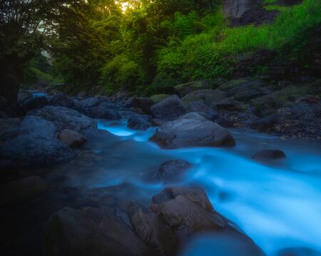 Wawushan water stream, Hongya County