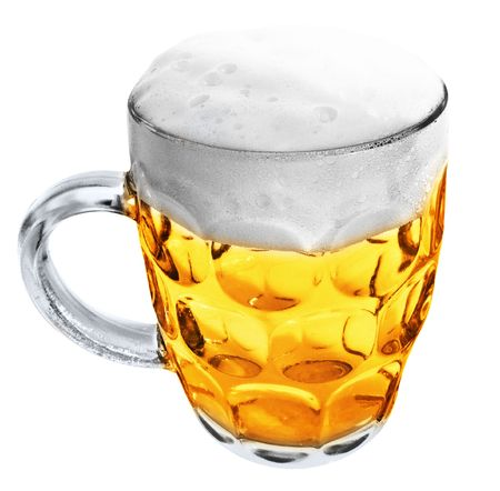 Glass Mug with beer isolated on white background Stock Photo - 5545646