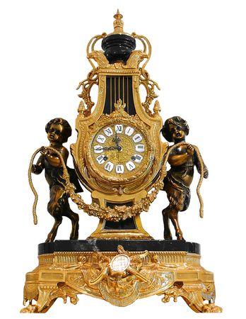 antique: Antique Gold mantle clock