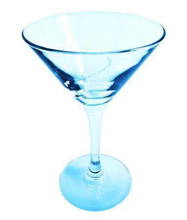Blue Martini Glass