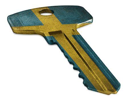 Key with Swedish Flag Reklamní fotografie