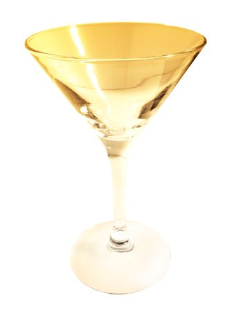 Martini Glass isolated on white