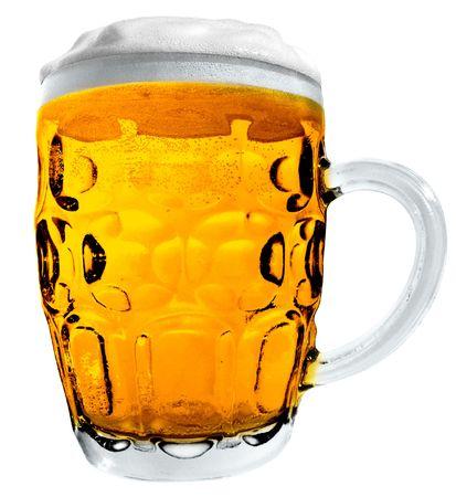 Large Beer Mug isolated on white Stock Photo - 5663722