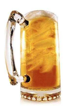 Tall Glass Mug with Ice Tea