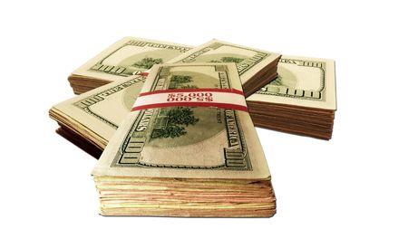 money packs: Stacks of money