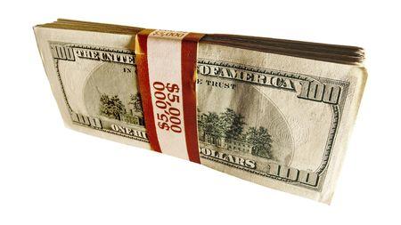 money packs: Stack of 100 dollar bills