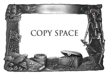 Metal Picture Frame isolated Reklamní fotografie