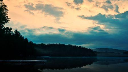 Lake shoreline at Twilight