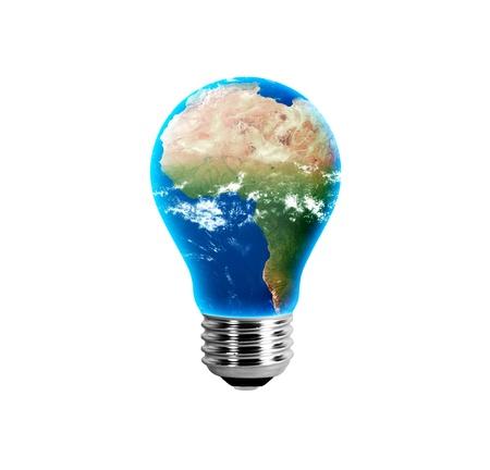 Africa in a light bulb Reklamní fotografie