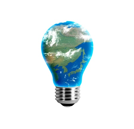 Asia in a light bulb
