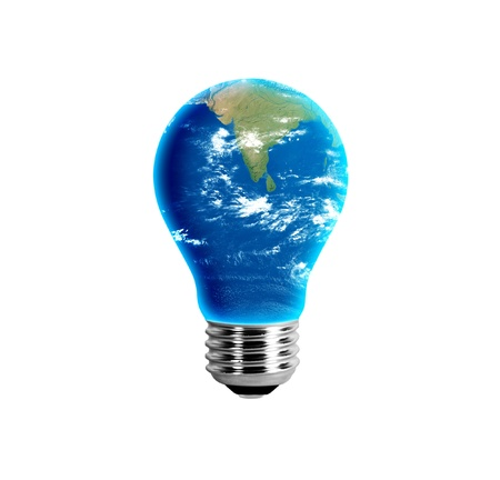 India in a light bulb