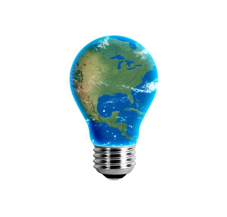 United States in a light bulb photo
