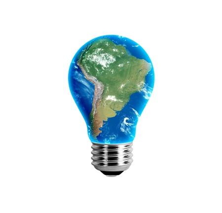 South America in a light bulb Reklamní fotografie