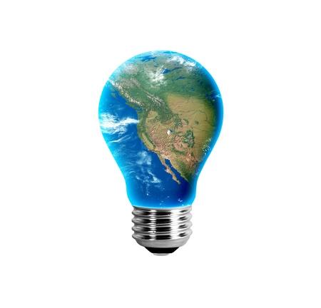 United States West Coast in a light bulb Reklamní fotografie