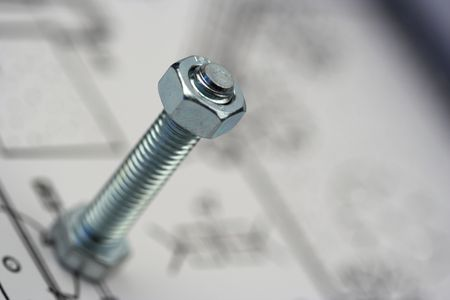 Nut and bolt close up with shallow Dof Stock Photo - 3064736