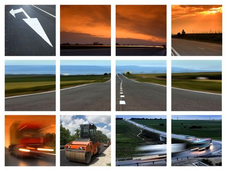This is a  transportation themed collage Imagens - 3119662