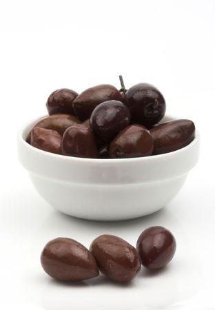 Some black olives close up
