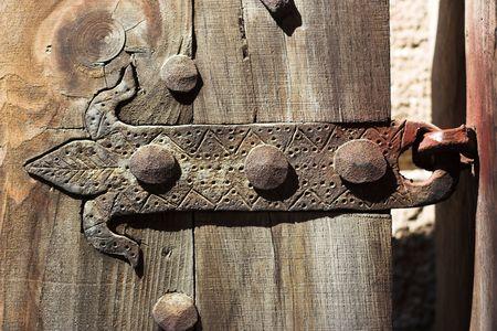 hinge: Vintage door,hinge close up