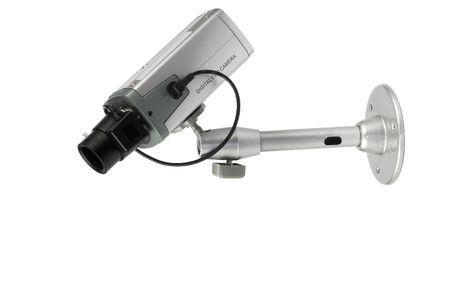 security digital camera over white