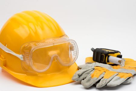 Safety gear kit close up Stock Photo - 3618041