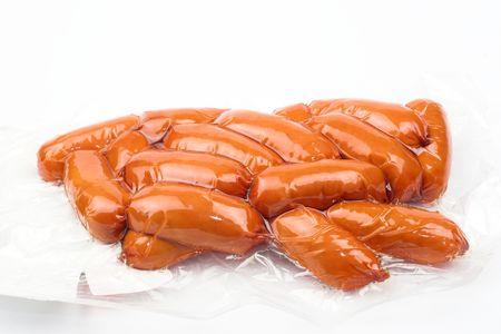 over packed: envasados c�ctel frankfurters m�s de blanco