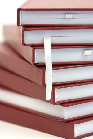 stack of books close  up photo