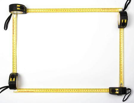 quadro di quattro misura nastri Archivio Fotografico