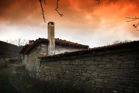 ethnographic: old authentic house in Bulgaria