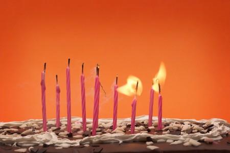 blow out: Alcuni colpo di compleanno candele