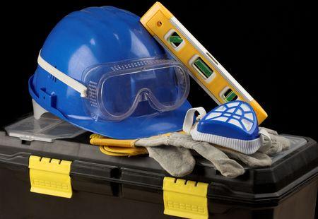 Safety gear kit close up photo