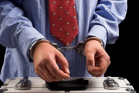 Handcuffs on the man's hands  Stock Photo - 5596253