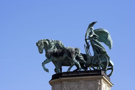 predecessor: Symbolic figure of Peace-Heroes square Budapest,Hungary