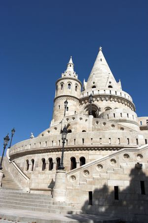 bastion: Fishermen�s Bastion in Budapest,Hungary Stock Photo