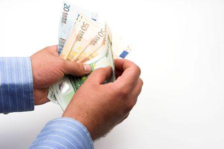 contando dinero: de dinero en manos del empresario de contar