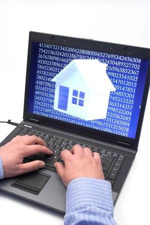 create a digital house concept Stock Photo - 6088122